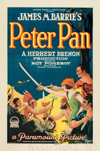 """Peter Pan (Paramount, 1924). Fine/Very Fine on Paper. One Sheet (27"""" X 41"""") Style B"""