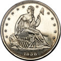 1838 P50C Seated Liberty Half Dollar, Judd-79A, Pollock-86, Low R.7 PR65+ PCGS....(PCGS# 11328)