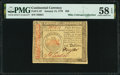 Colonial Notes:Continental Congress Issues, Continental Currency January 14, 1779 $50 Fr. CC-97 PMG Choice About Uncirculated 58 EPQ.. ...
