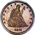 1875 20C Twenty Cent, Judd-1408, Pollock-1551, Low R.7, PR64+ Brown PCGS....(PCGS# 61715)