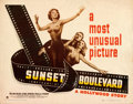"""Movie Posters:Film Noir, Sunset Boulevard (Paramount, 1950). Rolled, Fine/Very Fine. Half Sheet (22"""" X 28"""") Style A.. ..."""