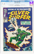 Silver Age (1956-1969):Superhero, The Silver Surfer #2 (Marvel, 1968) CGC FN/VF 7.0 Cream to off-white pages....