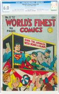 Golden Age (1938-1955):Superhero, World's Finest Comics #8 (DC, 1942) CGC FN 6.0 Cream to off-white pages....