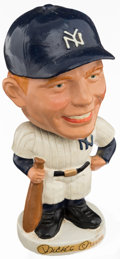 Baseball Collectibles:Others, Early 1960's Mickey Mantle Nodder Bobbin' Head Doll....