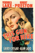 """Movie Posters:Film Noir, This Gun for Hire (Paramount, 1942). Fine+ on Linen. One Sheet (27"""" X 41"""").. ..."""
