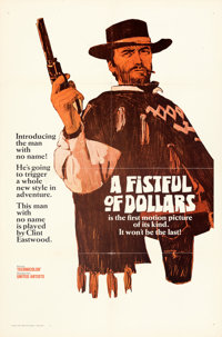 """A Fistful of Dollars (United Artists, 1967). Folded, Fine/Very Fine. One Sheet (27"""" X 41"""") Style A Teaser, Fre..."""