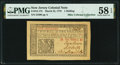 Colonial Notes:New Jersey, New Jersey March 25, 1776 1 Shilling Fr. NJ-175 PMG Choice About Uncirculated 58 EPQ.. ...