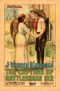 """Movie Posters:Western, The Circular Fence (Mutual, R-1916). Fine on Linen. One Sheet (27.5"""" X 41"""") Reissue Title: The Capture of Rattlesnake Ike..."""