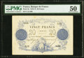 World Currency, France Banque de France 20 Francs 5.1.1871 Pick 55 PMG About Uncirculated 50.. ...