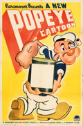 """Movie Posters:Animation, Popeye the Sailor (Paramount, 1941). Folded, Very Fine-. Stock One Sheet (27"""" X 41"""").. ..."""