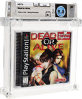 Video Games:Playstation, Dead or Alive - Wata 9.8 A+ Sealed [Sony Security Label], PS1 Tecmo 1996 USA....