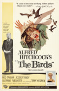 """Movie Posters:Hitchcock, The Birds (Universal, 1963). Folded, Very Fine. One Sheet (27"""" X 41"""").. ..."""