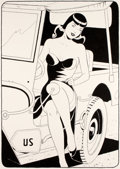 Original Comic Art:Illustrations, Philippe Berthet En Voiture Soldat Illustration Originale (2018/2019)....