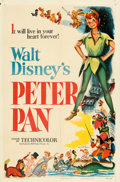 """Movie Posters:Animation, Peter Pan (RKO, 1953). Folded, Fine/Very Fine. One Sheet (27"""" X 41"""").. ..."""