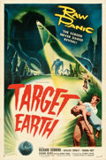 Movie Posters:Science Fiction, Target Earth (Allied Artists, 1954). Folded, Very Fine.