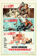 """Movie Posters:James Bond, Thunderball (United Artists, 1965). Folded, Very Fine+. One Sheet (27"""" X 41"""") Full Jetpack Style, Frank McCarthy and Robert ..."""