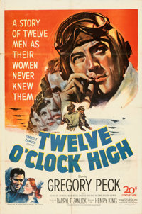 "Twelve O'Clock High (20th Century Fox, 1949). Folded, Fine/Very Fine. One Sheet (27"" X 41"")"