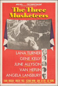 "The Three Musketeers (MGM, 1948). Folded, Very Fine-. One Sheet (27"" X 41"") Style D. Swashbuckler"