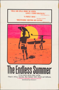 "The Endless Summer (Cinema 5, 1966). Folded, Fine+. Silk Screen Day-Glo One Sheet (27"" X 41"") John Van Hamersv..."