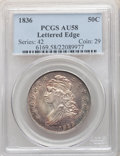 Bust Half Dollars, 1836 50C Lettered Edge AU58 PCGS. PCGS Population: (252/256). NGC Census: (217/272). CDN: $500 Whsle. Bid for NGC/PCGS AU58...