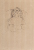 Prints & Multiples, Mary Stevenson Cassatt (American, 1844-1926). Sarah Smiling. Drypoint on paper . 14-3/4 x 9 inches (37.5 x 22.9 cm) (she...