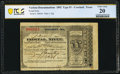 Miscellaneous:Other, Crockett, TX- Postal Note Type IV 90¢ Jan. 11, 1892 PCGS Banknote Very Fine 20.. ...