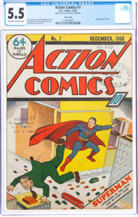 Action Comics #7 Court Copy (DC, 1938) CGC FN- 5.5 Off-white to white pages