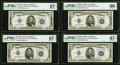 Small Size:Silver Certificates, Fr. 1651 $5 1934A Silver Certificates. F-A, G-A, H-A, and I-A Blocks. PMG Graded Gem Uncirculated 66 EPQ; Superb Gem Unc 67 EP... (Total: 4 notes)