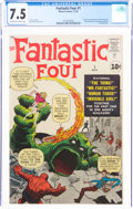 Silver Age (1956-1969):Superhero, Fantastic Four #1 (Marvel, 1961) CGC VF- 7.5 Off-white to white pages....