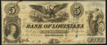 Obsoletes By State:Louisiana, New Orleans, LA- Bank of Louisiana $5 June 14, 1862 Forced Issue Very Fine.. ...