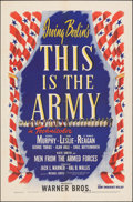 "Movie Posters:Musical, This is the Army (Warner Bros., 1943). Folded, Very Fine-. One Sheet (27"" X 41""). Musical.. ..."