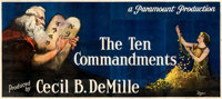 "The Ten Commandments (Paramount, 1923). Folded, Fine. 24 Sheet (104"" X 232"") Style B, Ralph W. Iligan Artwork..."