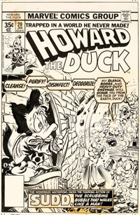 Gene Colan and Tom Palmer Howard the Duck #20 Cover Original Art (Marvel, 1978)