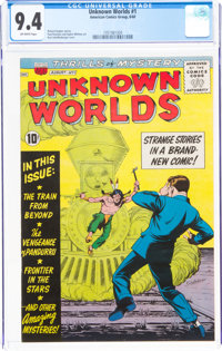 Unknown Worlds #1 (ACG, 1960) CGC NM 9.4 Off-white pages
