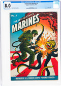Golden Age (1938-1955):War, United States Marines #3 (Magazine Enterprises, 1944) CGC VF 8.0 Cream to off-white pages....