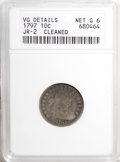 Early Dimes, 1797 10C 16 Stars--Cleaned--ANACS. VG Details, Net Good 6. JR-2.NGC Census: (1/50). PCGS Population (1/60). Mintage: 25,26...