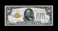 Small Size:Gold Certificates, Fr. 2404 $50 1928 Gold Certificate. Extremely Fine.. ...