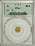 California Fractional Gold: , Undated 25C Liberty Round 25 Cents, BG-222, R.2, MS62 PCGS. PCGSPopulation (123/223). NGC Census: (13/32). (#10407)...