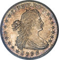 Early Half Dimes, 1796/5 H10C MS66 PCGS....