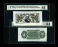 Fractional Currency:Third Issue, Fr. 1324SP 50c Wide Margin Pair Third Issue Spinner PMG Choice Uncirculated 64.... (Total: 2 notes)