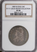 Bust Half Dollars, 1809 50C III Edge--NGC. O-111. Ex: Jules Reiver Collection. NGCCensus: (8/58). PCGS Population (3/54). Numismedia Wsl...