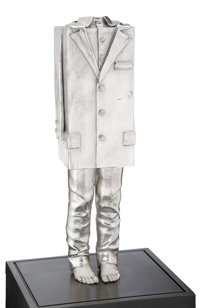 Erwin Wurm (b. 1954) Untitled, 2009 Bronze with silver patina 21-3/4 inches (55.2 cm) Ed. 6/6<