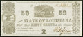 Obsoletes By State:Louisiana, Shreveport, LA- State of Louisiana 50¢ Mar. 1, 1864 Choice About Uncirculated.. ...