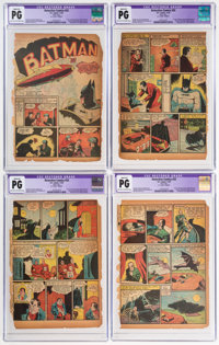 Detective Comics #33 CGC-Graded Pages 1-6 Only (DC, 1939).... (Total: 6 Items)