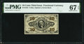 Fractional Currency:Third Issue, Fr. 1255 10¢ Third Issue PMG Superb Gem Unc 67 EPQ.. ...
