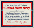 """Movie Posters:Miscellaneous, Navy Recruitment Poster (1940). Rolled, Fine/Very Fine. Poster (17"""" X 14""""). Miscellaneous.. ..."""