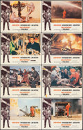 """Movie Posters:Action, Hellfighters (Universal, 1969). Overall: Fine/Very Fine. Lobby Card Set of 8 (11"""" X 14""""). Action.. ... (Total: 8 Items)"""