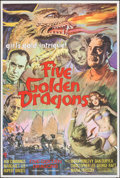 """Movie Posters:Action, Five Golden Dragons (Anglo-Amalgamated Film, 1967). Folded, Very Fine. British One Sheet (27"""" X 40""""). Action.. ..."""