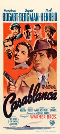 Movie Posters:Academy Award Winners, Casablanca (Warner Bros., 1942). Fine+ on Linen. A...