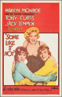 "Some Like It Hot (United Artists, 1959). Fine+ on Linen. One Sheet (27"" X 41.5""). Comedy"